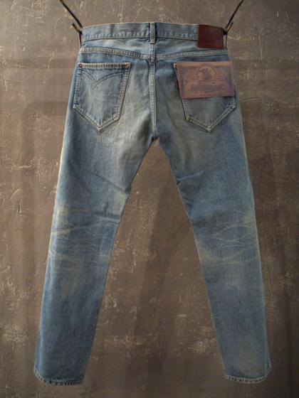 Narrow Straight Jeans-Vintage Wash-