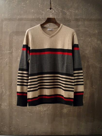 COTTON STRIPE L/S KNIT