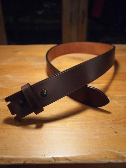 HEAVY PLAIN BELT -DOUBLE-