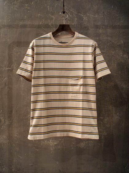 BORDER POCKET T-S<40/2天竺>