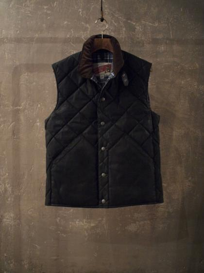 OILED QUILTED DOWN VEST