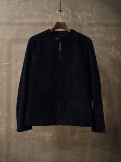 BAND COLLAR SUEDE JKT