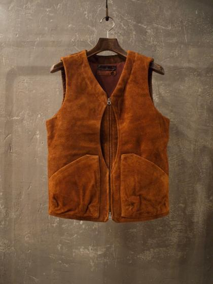 QUILTING SHELL VEST<SUEDE>